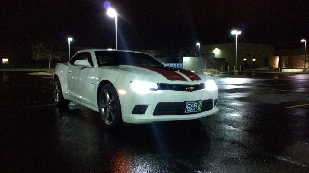 Amazing White 2014 Chevy Camaro Ss At Night Camaro Pictures